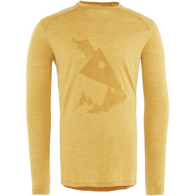 Klättermusen M's Eir Forest L/S Tee Honey